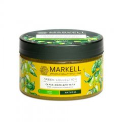 Markell, Скраб-желе для тела Green Collection, сахар и лайм, 250 мл